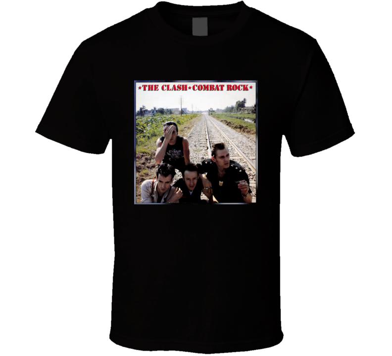 The Clash Combat Rock Vintage 80's Rock Album Cool Classic  Fan T Shirt