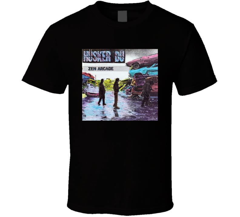 Husker Du Zen Arcade Vintage 80's Rock Album Cool Classic  Fan T Shirt