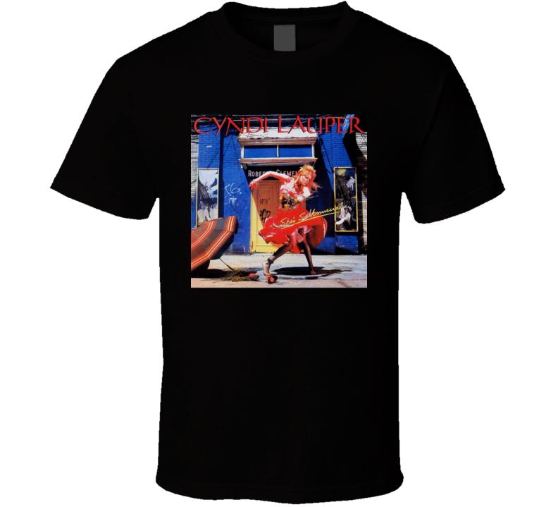 Cyndi Lauper She's So Unusual Vintage 80's Rock Album Cool Classic  Fan T Shirt
