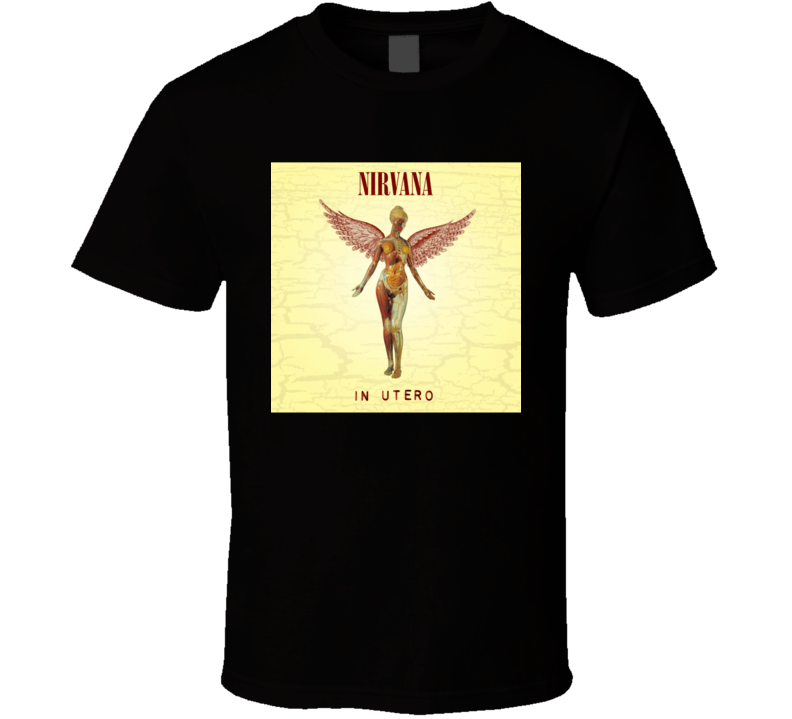 Nirvana In Utero 90's Rock Album Cool Classic  Fan T Shirt