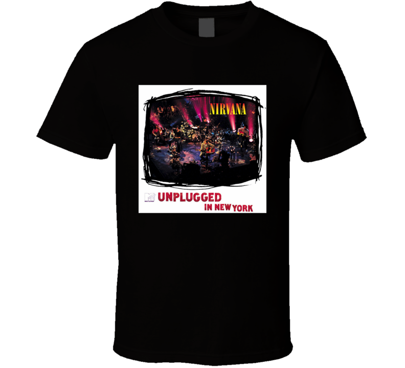 Nirvana MTV Unplugged In New York 90's Rock Album Cool Classic  Fan T Shirt