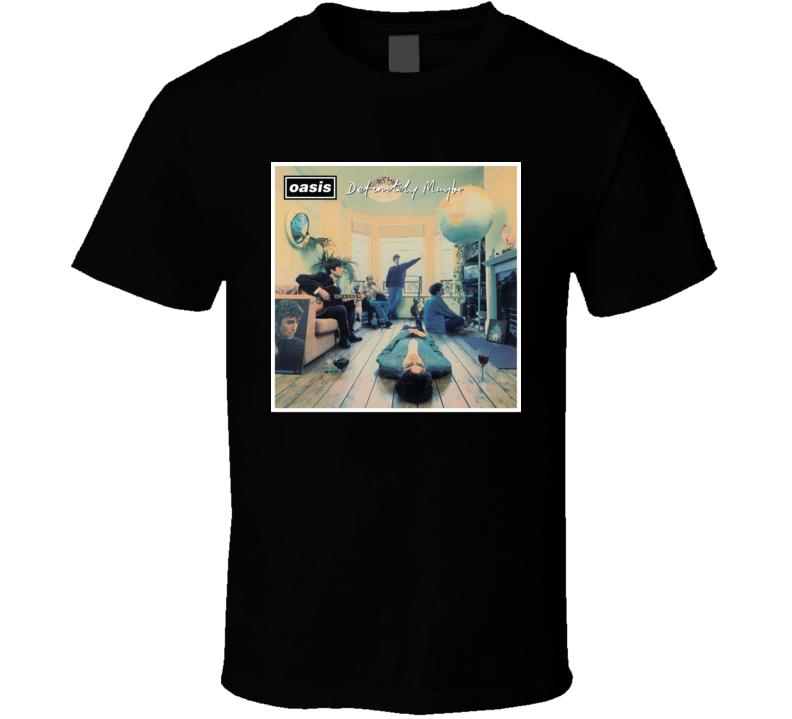 Oasis Definitely Maybe 90's Rock Album Cool Classic  Fan T Shirt