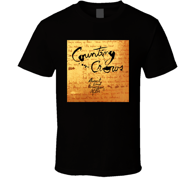 Counting Crows August And Everything After 90's Rock Album Cool Classic  Fan T Shirt