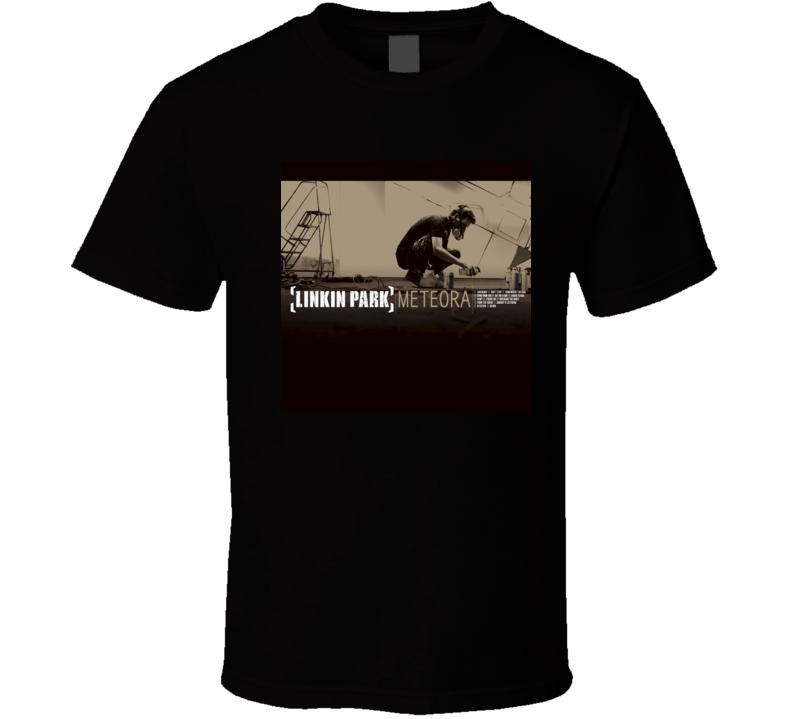 Linkin Park Meteora 21st Century Rock Album Cool Classic  Fan T Shirt