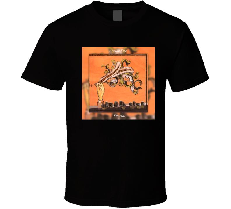 Arcade Fire Funeral 21st Century Rock Album Cool Classic  Fan T Shirt