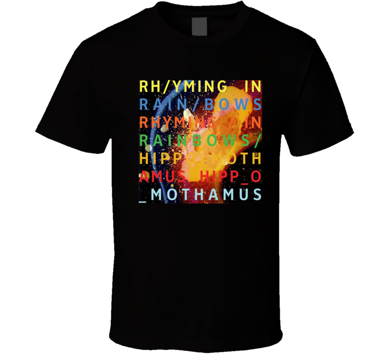 Radiohead In Rainbows 21st Century Rock Album Cool Classic  Fan T Shirt