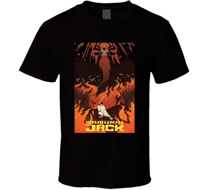 Samurai Jack Anime TV Show Poster Cool Fan T Shirt