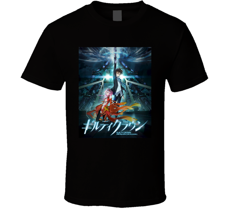 Guilty Crown Anime TV Show Poster Cool Fan T Shirt