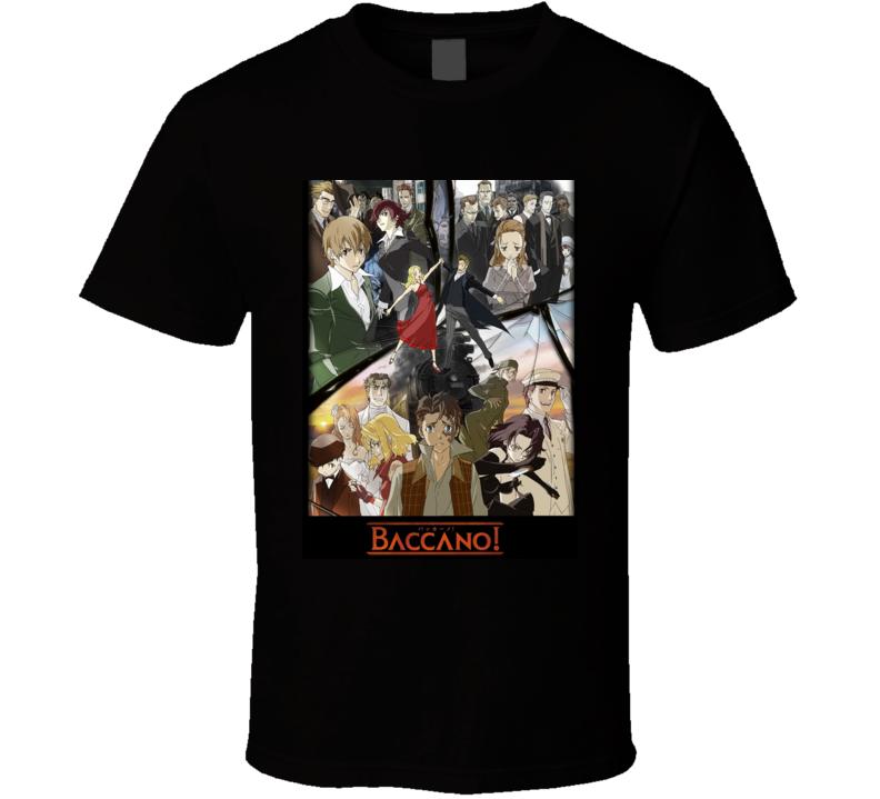 Baccano Anime Tv Show Poster Cool Fan T Shirt