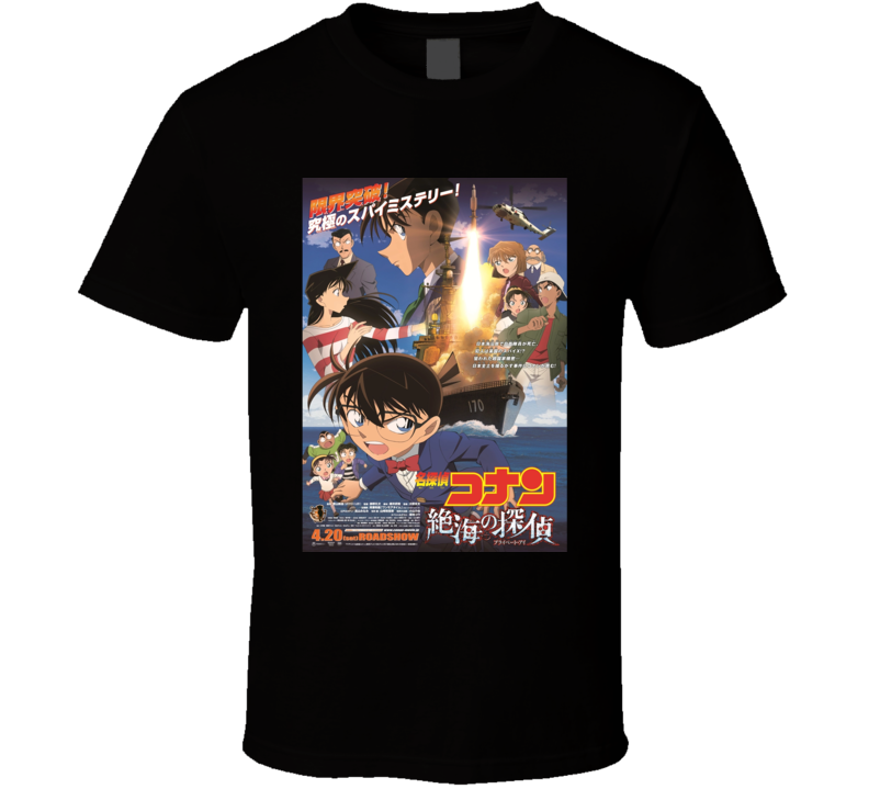Case Closed Anime Tv Show Poster Cool Fan T Shirt
