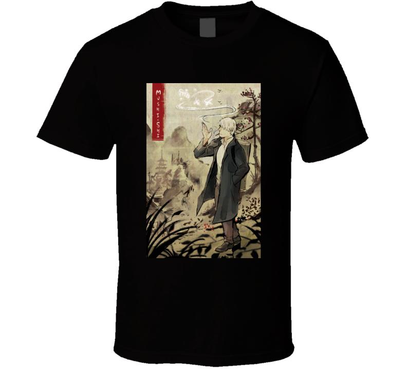 Mushishi Anime Tv Show Poster Cool Fan T Shirt