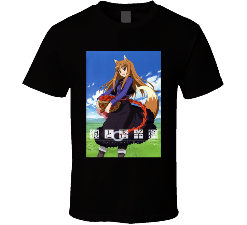 Spice And Wolf Anime Tv Show Poster Cool Fan T Shirt