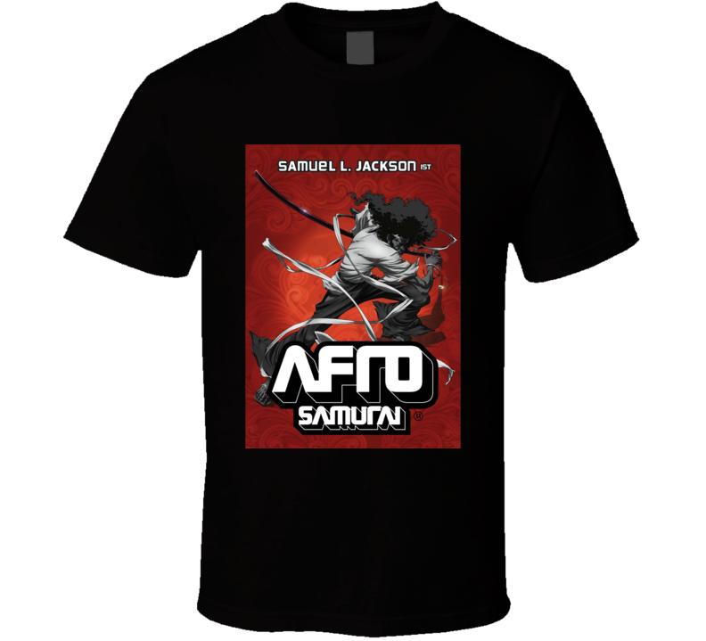 Afro Samurai Anime TV Show Poster Cool Fan T Shirt