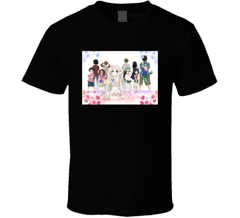 Anohana The Flower We Saw That Anime Tv Show Poster Cool Fan T Shirt