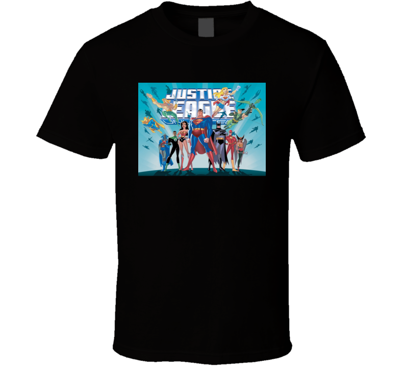 Justice League Unlimited anime movie and tv show poster T Shirt
