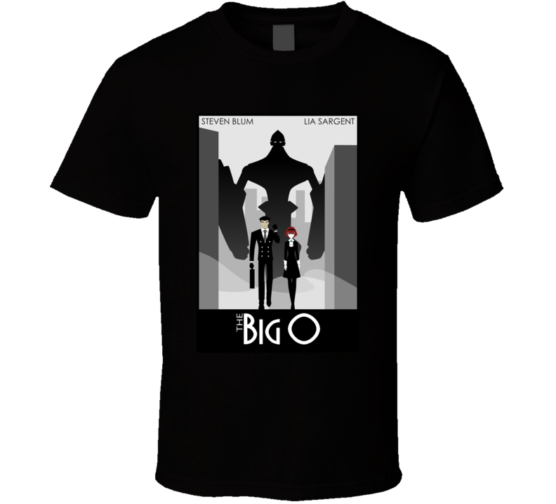 The Big O Anime Tv Show Poster Cool Fan T Shirt