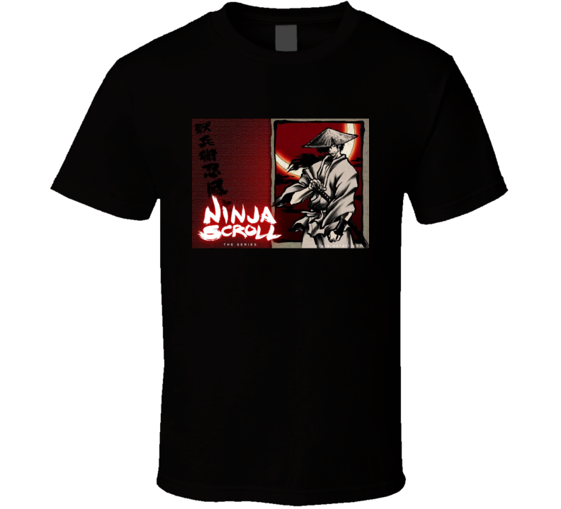 Ninja Scroll The Series Anime Tv Show Poster Cool Fan T Shirt