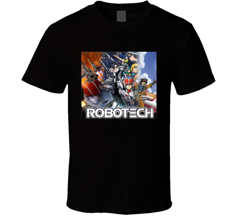Robotech Anime Tv Show Poster Cool Fan T Shirt