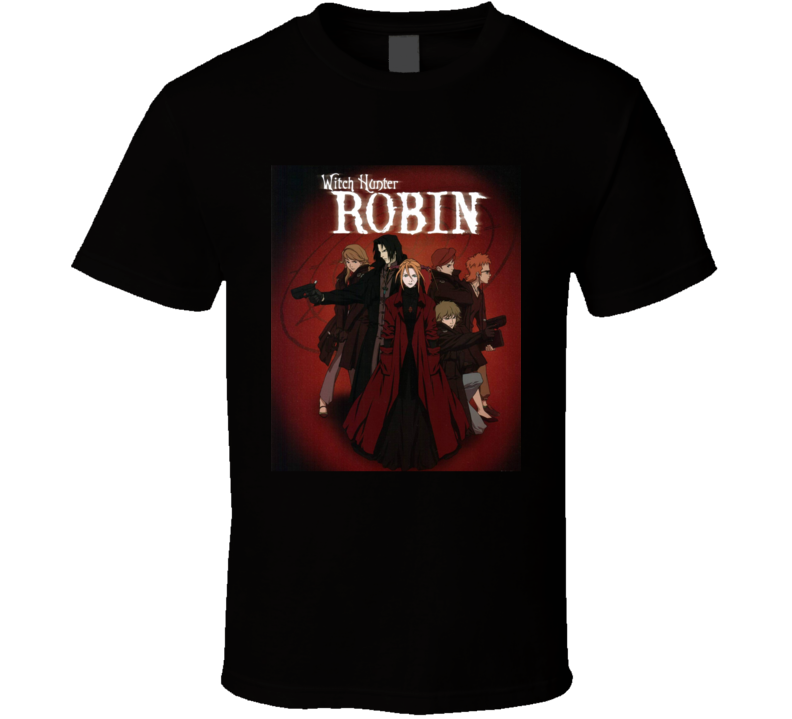 Witch Hunter Robin Anime Tv Show Poster Cool Fan T Shirt