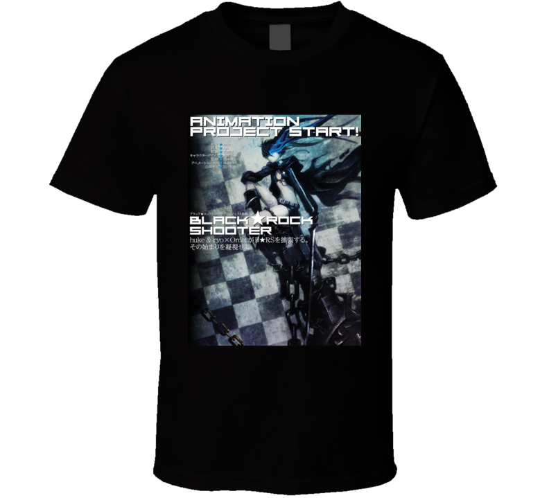 Black Rock Shooter Anime Tv Show Poster Cool Fan T Shirt