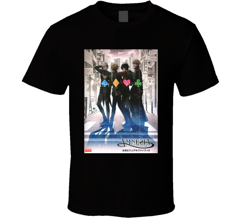 Amnesia Anime Tv Show Poster Cool Fan T Shirt