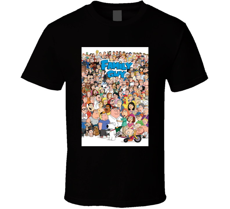 Family Guy anime movie and tv show poster T Shirt