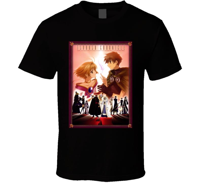 Tsubasa Chronicle Anime Tv Show Poster Cool Fan T Shirt