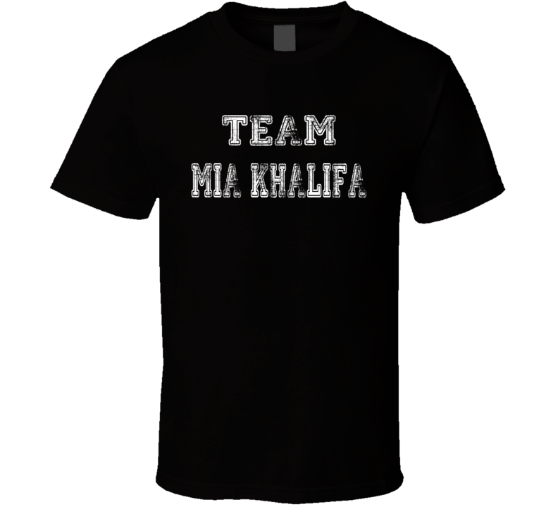 Distressed Team Mia Khalifa Funny T Shirt