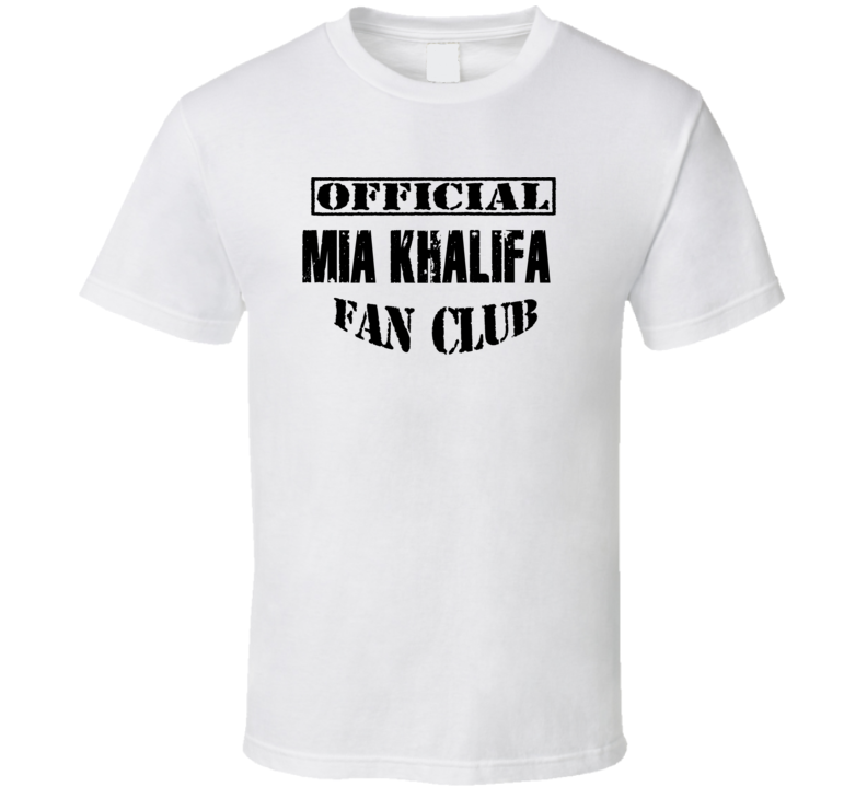 Official Mia Khalifa Fan Club Funny Porn T Shirt