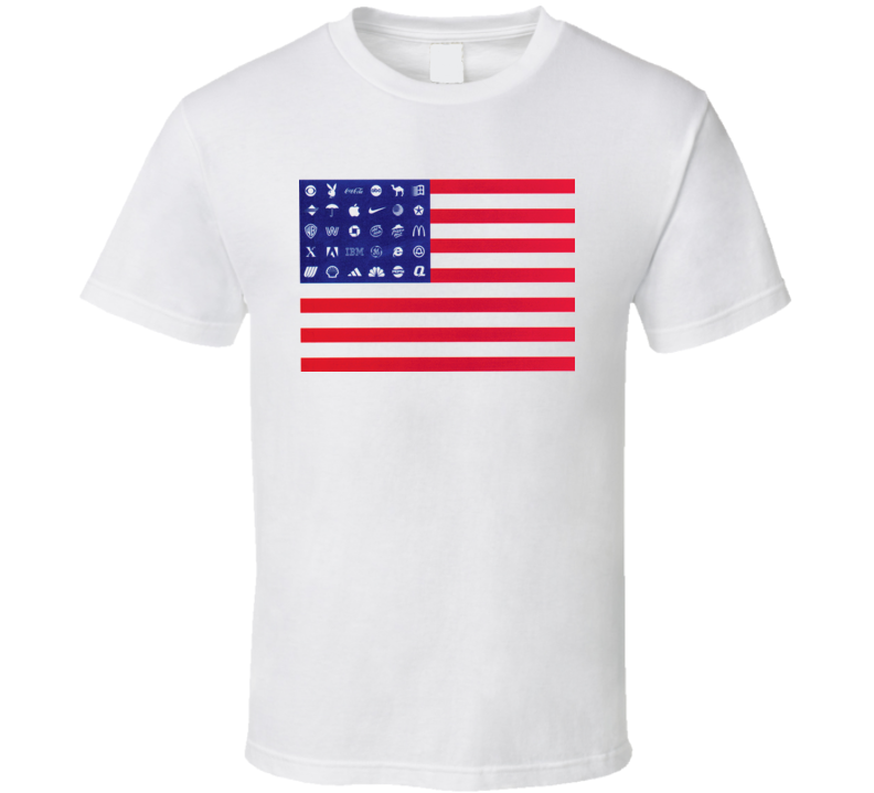 Corporate American Flag T Shirt
