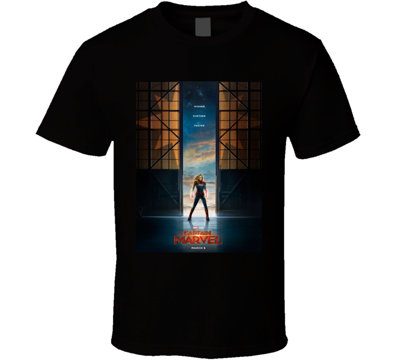 Captain Marvel Comic Book Superhero Cult Movie T Shirt