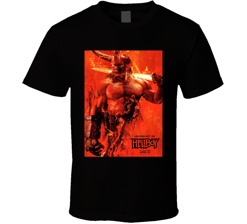 Hellboy 2018 Cult Classic Comic Book Horror Movie T Shirt
