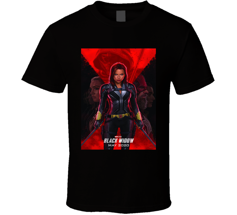 Black Widow Comic Book Movie T Shirt