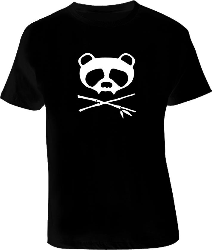 Panda Skull T Shirt