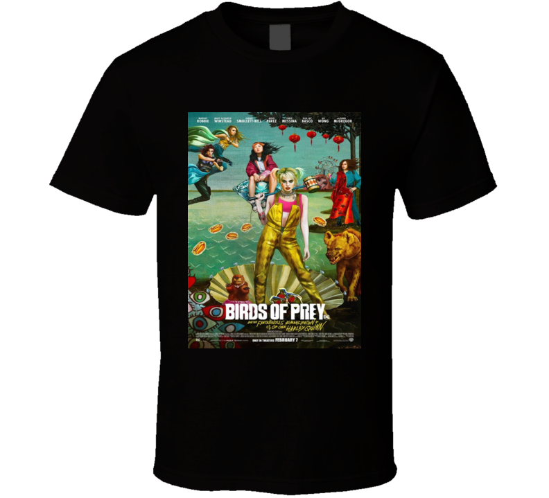 Birds Of Prey Painting Comic Movie Cult T Shirt