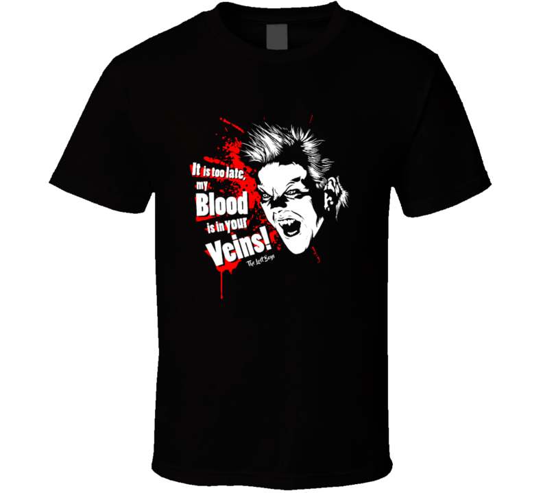 Lost Boys My Blood Is In Your Veins Cult Horror Movie T Shirt