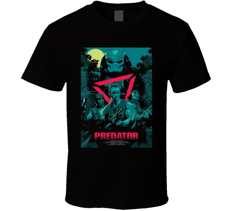 Predator Sci Fi Horror Cult Movie T Shirt