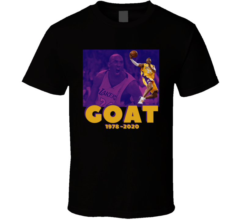 Kobe Bryant Greatest Of All Time Rest In Peace 1978-2020 Basketball T Shirt