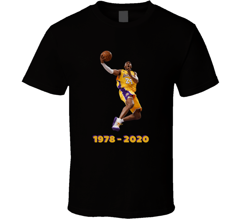 Kobe Bryant The Goat Rest In Peace 1978 - 2020 Basketball T Shirt