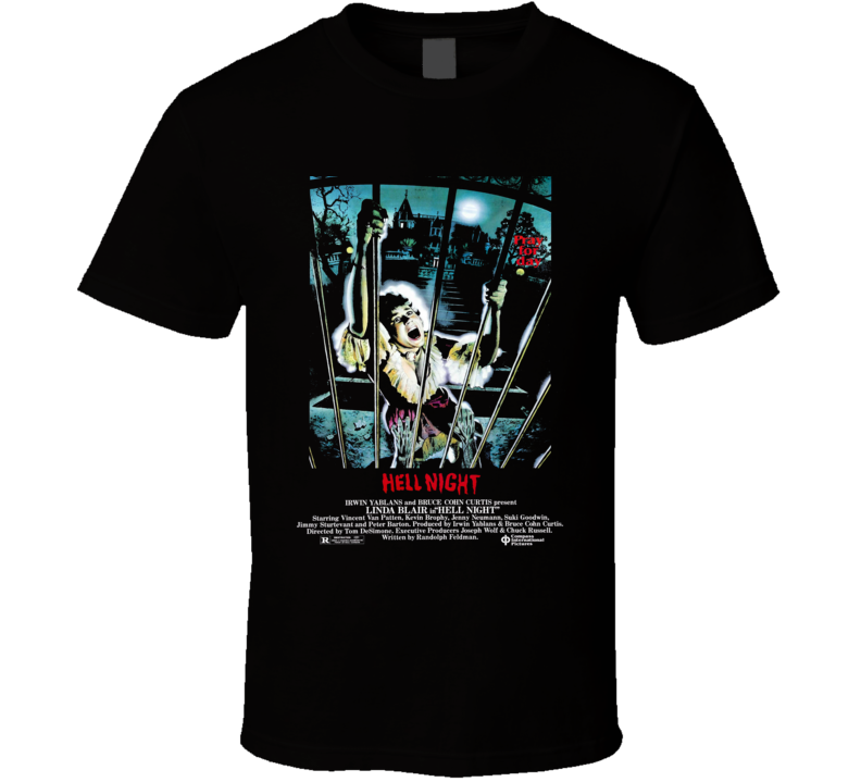 Hell Night 80s Horror Movie Brand New Classic Black T Shirt
