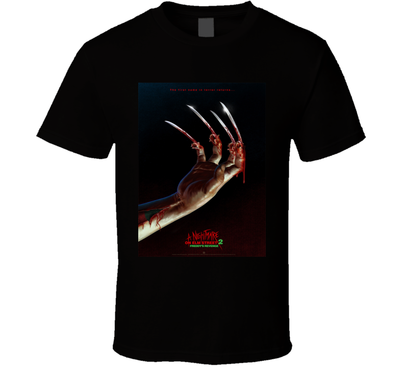 A Nightmare On Elm Street 2 Brand New Classic Black T Shirt
