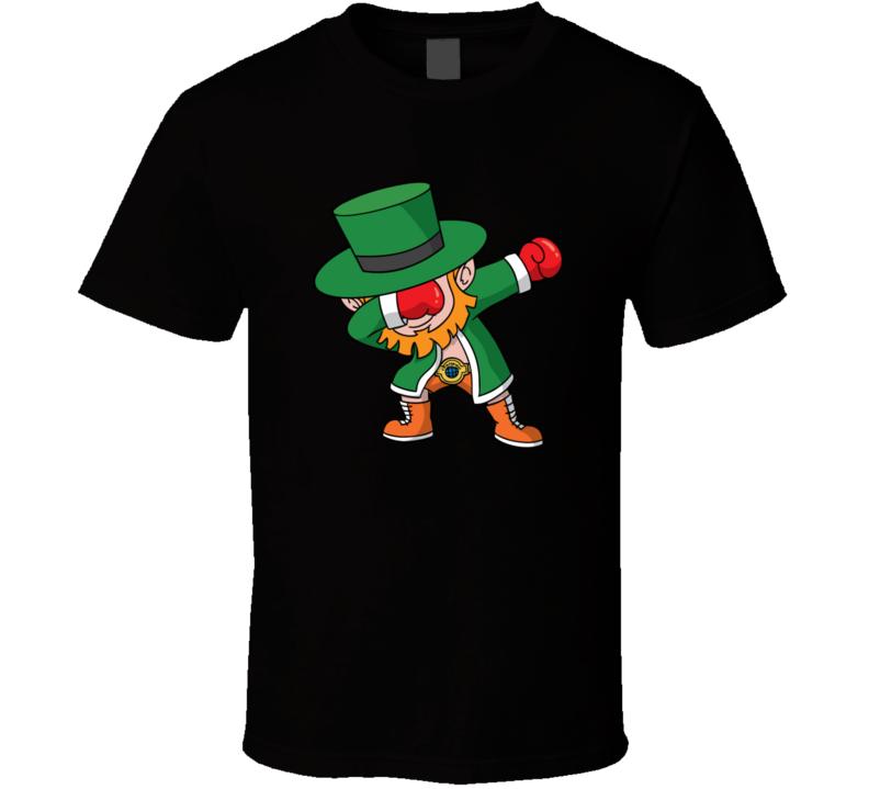 Dabbing Leprechaun Fighting Champ Brand New Classic Black T Shirt