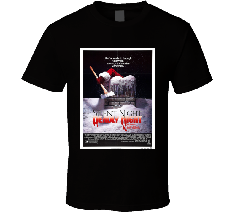 Silent Night Deadly Night Horror Movie Brand New Classic Black T Shirt