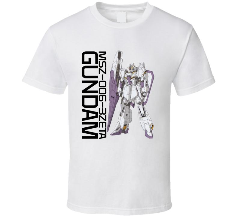 Gundam Wing Msz 006 3zeta Brand New Classic White T Shirt