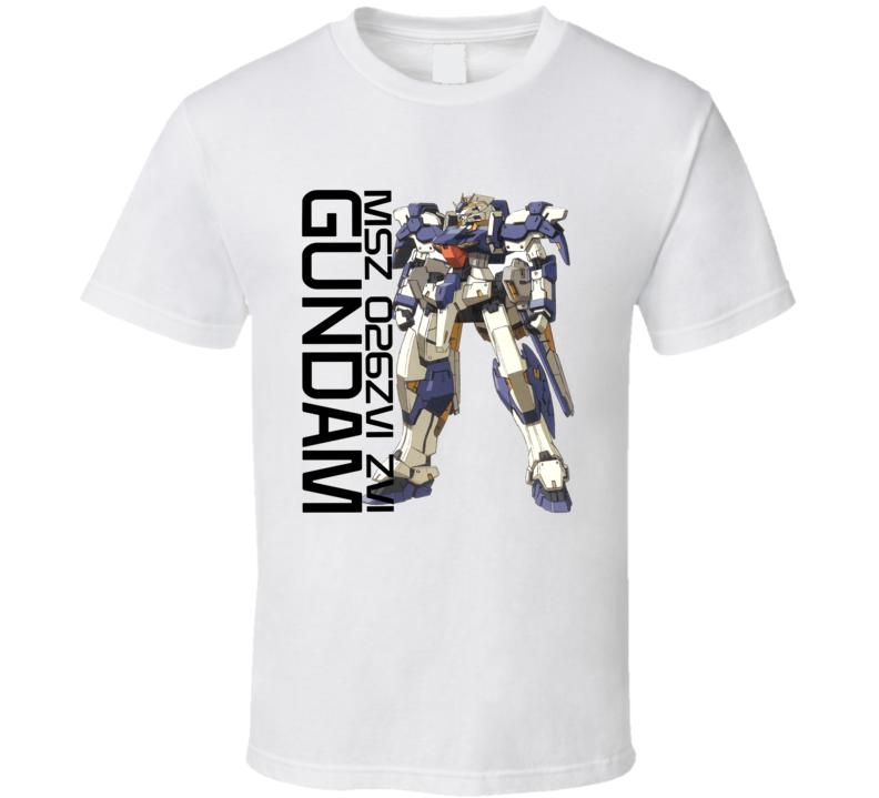 Gundam Wing Msz 026zvi Zvi Brand New Classic White T Shirt
