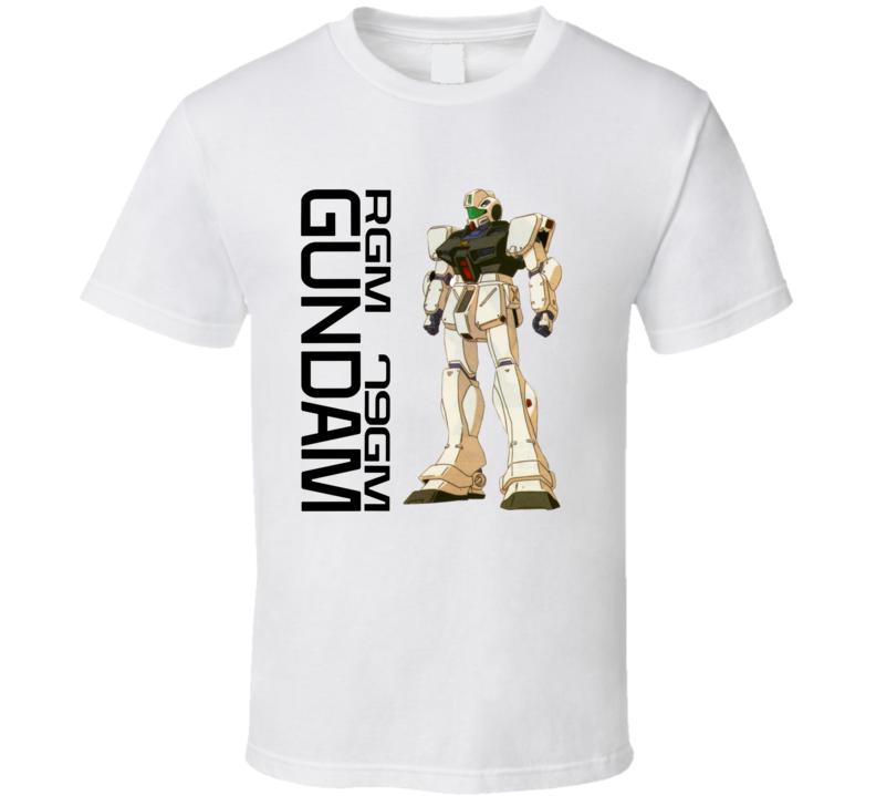 Gundam Wing Rgm 79gm Brand New Classic White T Shirt