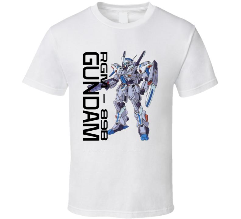 Gundam Wing Rgm 89b Brand New Classic White T Shirt