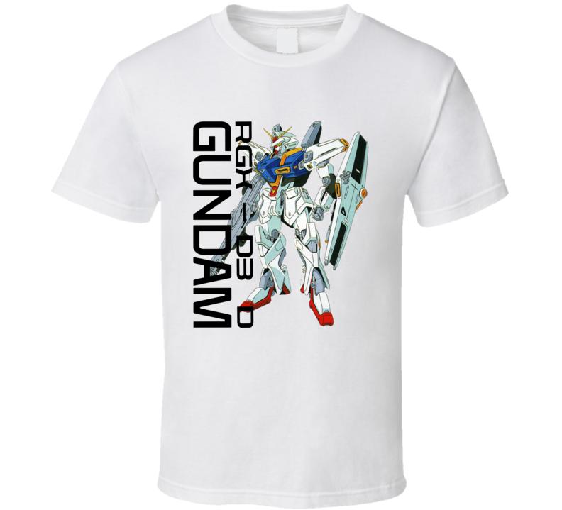 Gundam Wing Rgx D3 D Brand New Classic White T Shirt