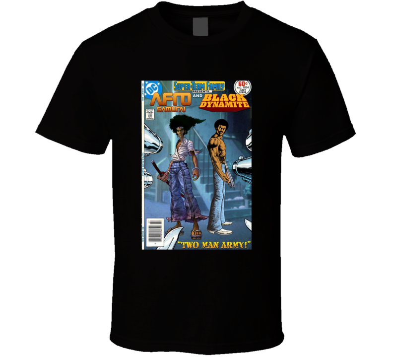 Afro Samurai And Black Dynamite Comic Book Brand New Classic Black T Shirt