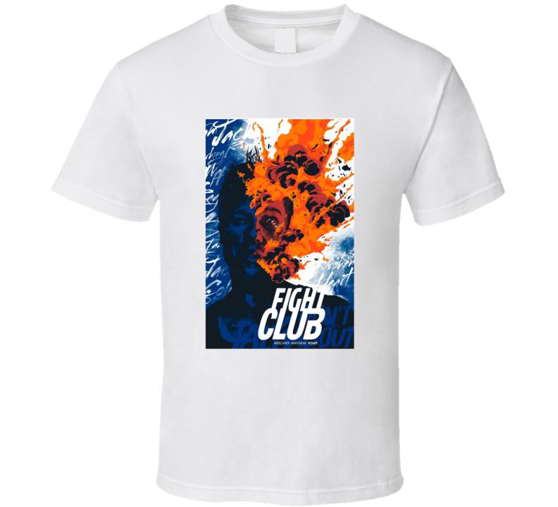 Fight Club Mischief Mayhem Soap Cult Movie Brand New Classic White T Shirt